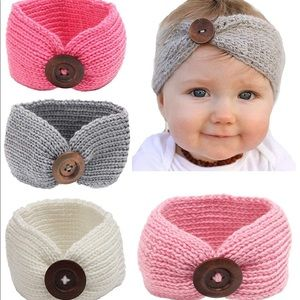 Other - NWT BABY KNITTED HEADBANDS SET OF FOUR